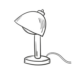 sketch of the lamp