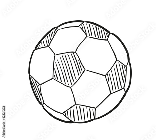 sketch of the football ball