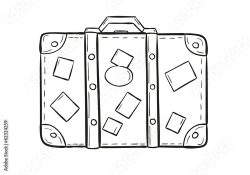sketch of the suitcase - 62324259