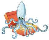 A treasure box with an octopus