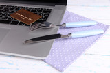Credit card with fork and knife