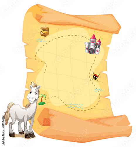 A white horse and a treasure map