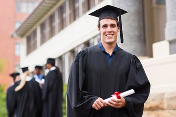 young male university graduate