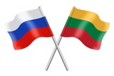 Flags: Russia and Lithuania