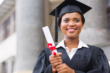 young afro american graduate