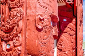 Maori Statue in Rotorua