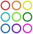 Nine colorful rings