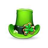 st.Patrick's Day's emerald clover on hat