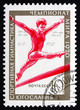 Postage stamp Russia 1970 Woman Athlete on Balancing Bar