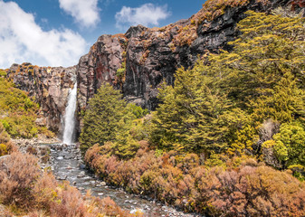 Wasserfall im Tongariro Nationalpark