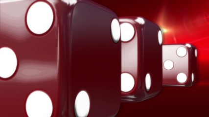 Red Casino Dice Red Background
