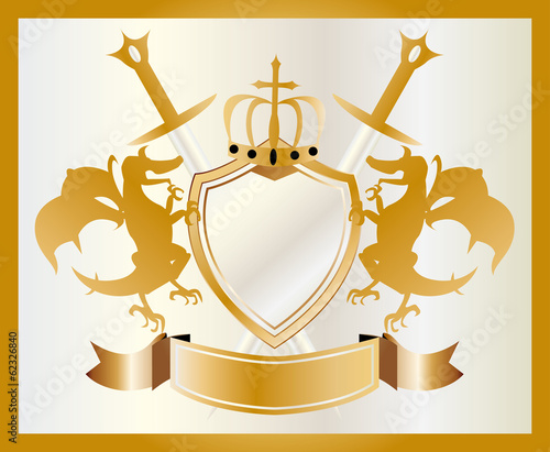 Coat of arms of gold.