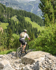 Biken im Gebirge