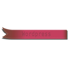 Cinta roja wordpress
