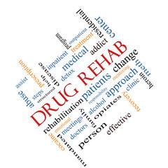 Drug Rehab Word Cloud Concept Angled
