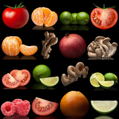 set from fruit and vegetables