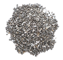 Chia Seeds (isolated on white)