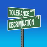 Road Sign- Tolerance- Discrimination poster