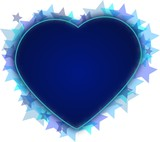 Stars heart in blue