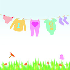 A vector of baby clothing