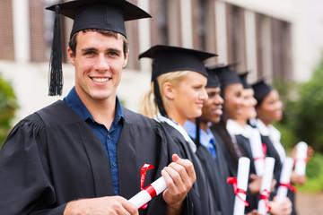 cheerful college graduates