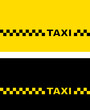 yellow and black taxi card