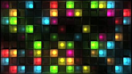 Wall of flashing lights - Discotheque loop