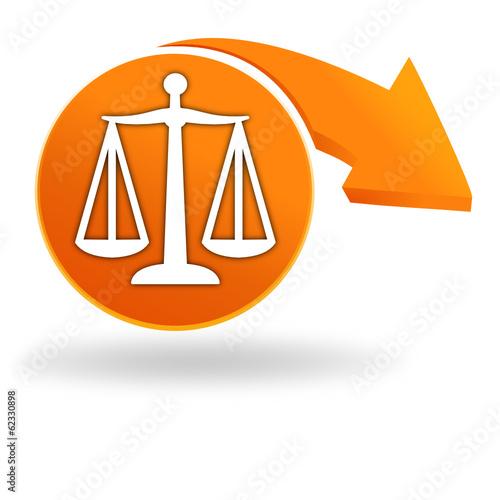 légale sur bouton orange