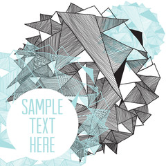 Geometric pattern modern background with place for your text