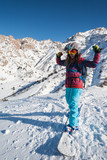 Active winter holidays, skiing and snowboarding