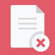 Vector Close Document Icon