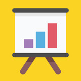 Vector Business Growing Graph Presentation Icon