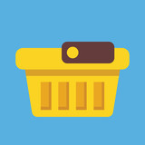 Vector Empty Shopping Basket Icon