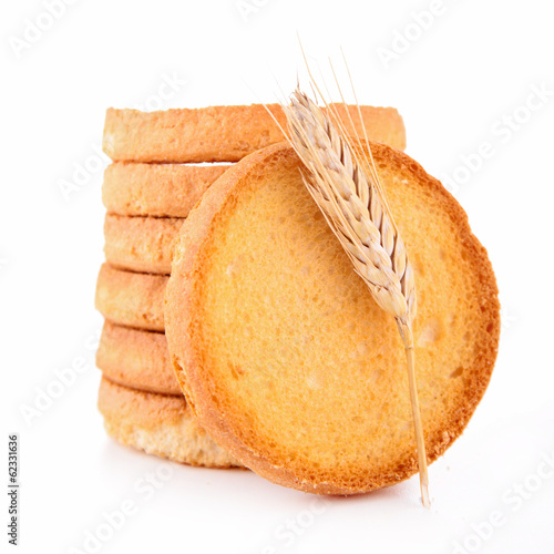 bread toast isolated