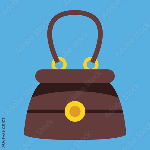 Vector Elegant Women Bag Icon