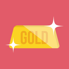 Vector Golden Bar Icon