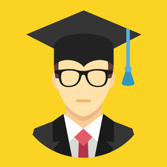Vector Graduation Man Icon