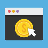 Vector Pay Per Click Icon