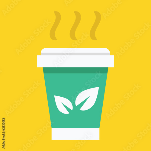 Vector Paper Tea Cup Icon