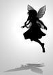 Silhouette illustration of a pixie