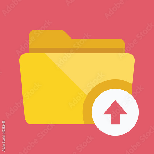 Vector Upload Folder Icon