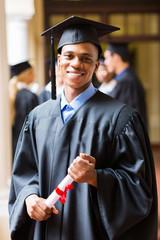 afro american male graduate