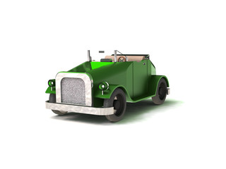 Historic car 3d background
