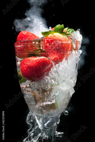 Fruit cocktail in glass