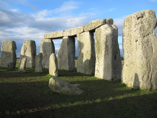 View inside Stonehenge