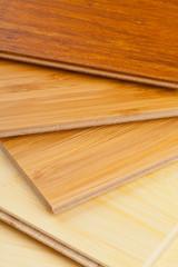 Bamboo laminate flooring close up