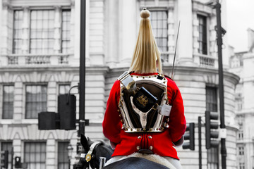 A Royal Horse Guards soldier. London, England.