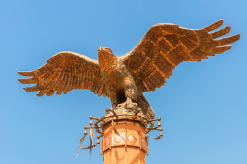 Monument of an eagle with spread wings