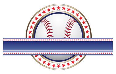 Baseball Design With Banner