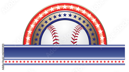 Baseball Design With Stars